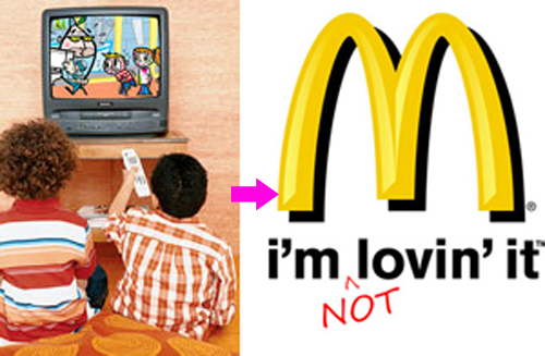 Mcdonald's has no tv policy